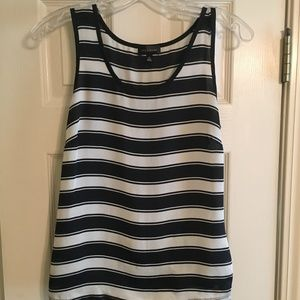 The Limited Navy & White Striped Tank Top - XS